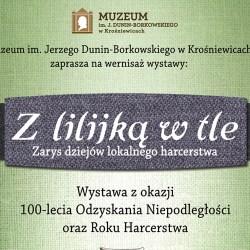 Zaproszenie na harcerską wystawę do Krośniewic