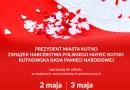 Zaproszenie na uroczystości 2 i 3 maja w Kutnie