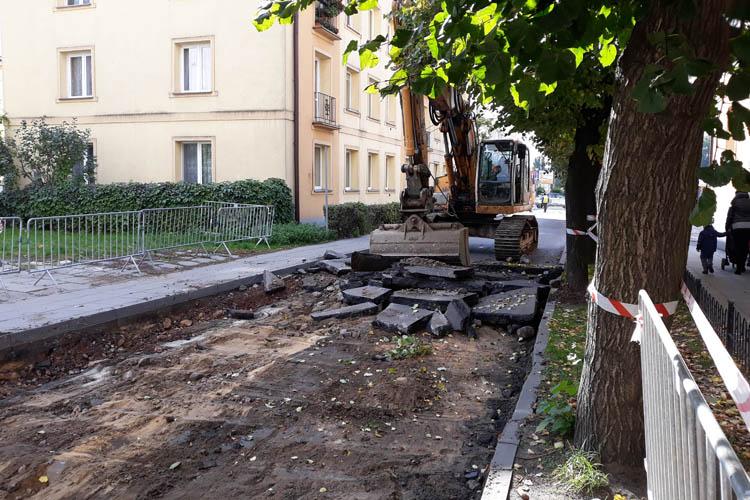 Przebudowa Placu Wolności - Ulica Krótka zamknięta