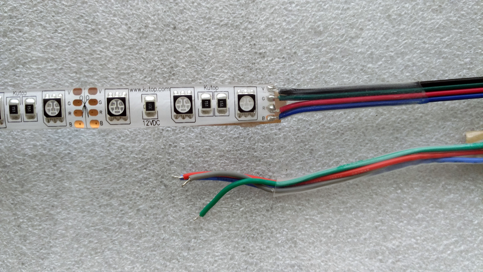 hight resolution of kutop high quality rgb 5050 led strip output wires