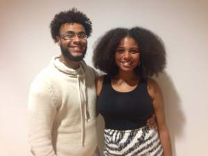 Poetry performers Helena Jones and Shawn Lawson.