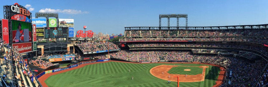 New York Mets' Citi Field located in Queens during a Mets vs. Arizona Diamondbacks game on July 11, 2015. Credit: Cole Kennedy via Creative Commons