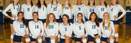 Women's Volleyball 2016 Team Photo Photo courtesy of Kimberly DeRitter