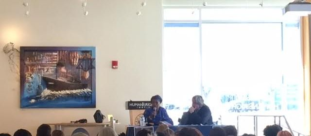 Ambassador Bangura speaks out against sexual violence.  Photo Courtesy of Johanna Ekladous