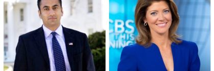 Actor, Kal Penn (left) will deliver the undergraduate commencement address on May 18, while Norah O'Donnell (right) CBS Morning co-host will give the graduate commencement speech on May 16. Photos courtesy of Kean University