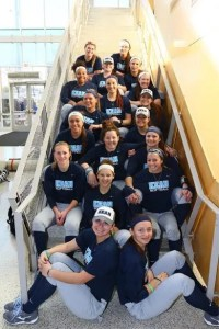 2017 Softball Team. Photo Courtesy of Julia Stasil