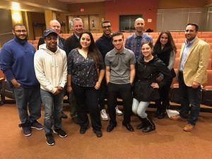 Students with sport panelists.  Photo Courtesy of Professor Jeremiah Sullivan