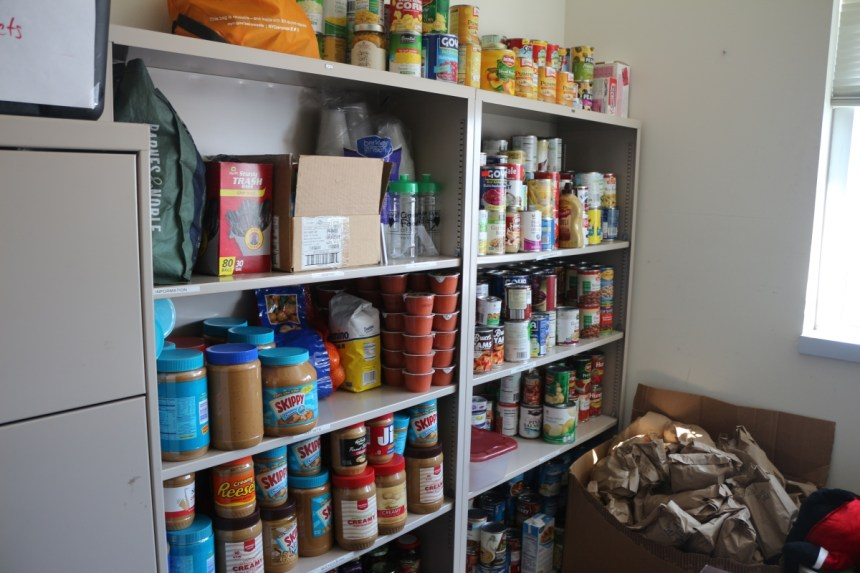 The food pantry -- converted from an unused professor's office space -- is located in Hennings Hall room 413. Credit: Rebecca Panico