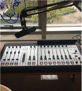 Take a look at the new WKNJ audio board. Photo Courtesy of   Saad Majid.