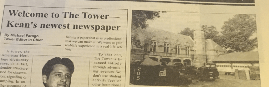 The first issue of The Tower, dated Sept. 12, 2000. Photo courtesy of Simeon Pincus