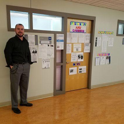 Prof. Jeremiah Sullivan and his Office Credit: Joshua Rosario