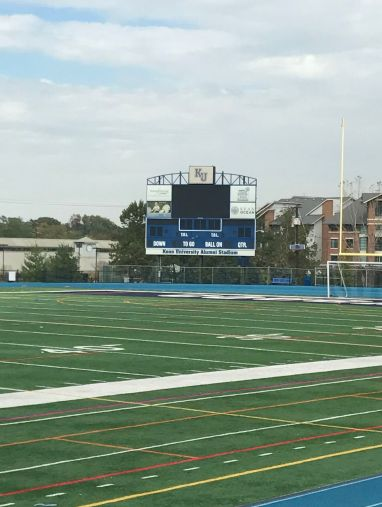 Kean football scoreboard Credit: Greg Patuto