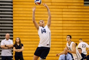 Sophomore setter Ian Capp playing the ball. Credit: Larry Levanti