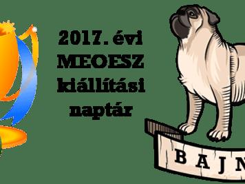 2017. évi kiállítási naptár – Magyar Ebtenyésztők Országos Egyesületeinek Szövetsége