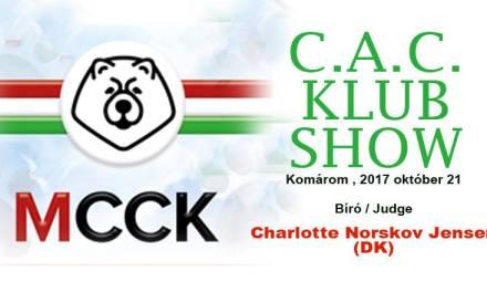 Magyar Chow-Chow Klub C.A.C. Klub Show Komárom – 2017. Október 21.