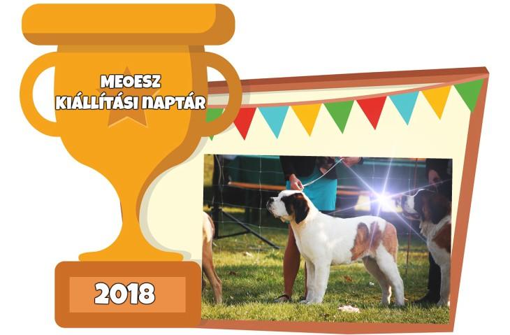 2018. évi kutyakiállítási naptár – Magyar Ebtenyésztők Országos Egyesületeinek Szövetsége