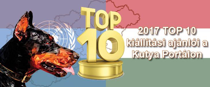 Kutya Portál 2017 TOP 10 kutyakiállítási ajánló