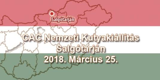 CAC Nemzeti Kutyakiállítás – Salgótarján – 2018. Március 25.