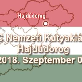 CAC Nemzeti Kutyakiállítás – Hajdúdorog – 2018. Szeptember 01.