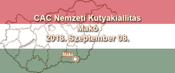 CAC Nemzeti Kutyakiállítás – Makó – 2018. Szeptember 08.