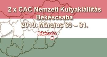 2 x CAC Nemzeti Kutyakiállítás – Békéscsaba - 2019. Március 30 – 31.