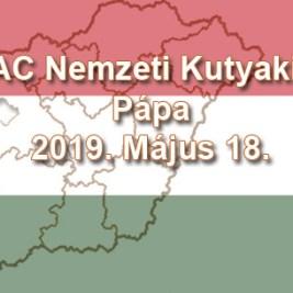 2 x CAC Nemzeti Kutyakiállítás – Pápa - 2019. Május 18.