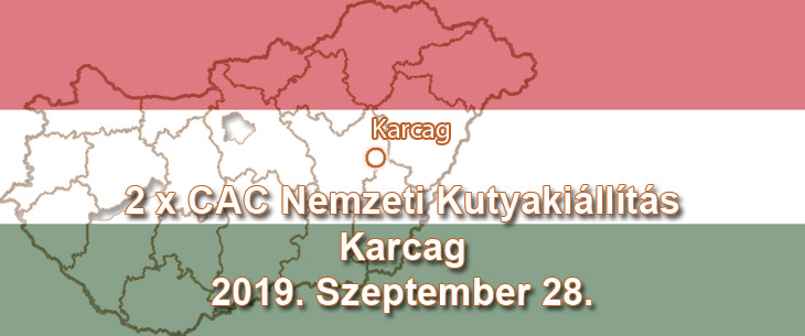 2 x CAC Nemzeti Kutyakiállítás – Karcag – 2019. Szeptember 28.