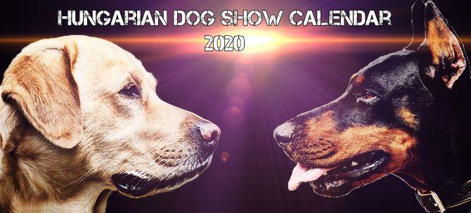Hungarian Dog Show Calendar of 2020
