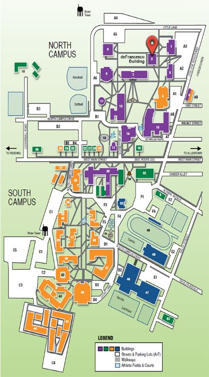 Ku Campus Map : campus, DeFrancesco, Renovation, Kutztown, University