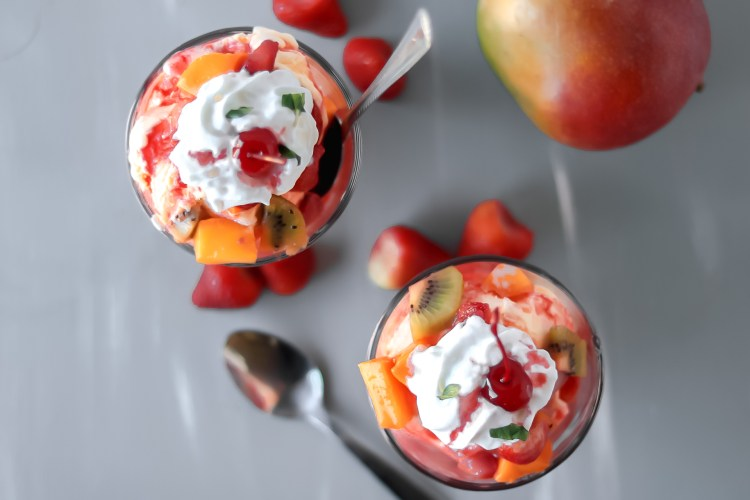 Mango Fruit Salsa Sundaes