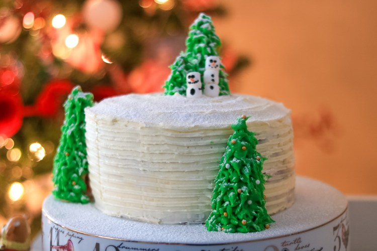 White Chocolate Cranberry Christmas Cake