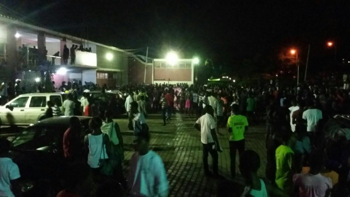 KNUST students gathered at independence hall in search of the infamous girl