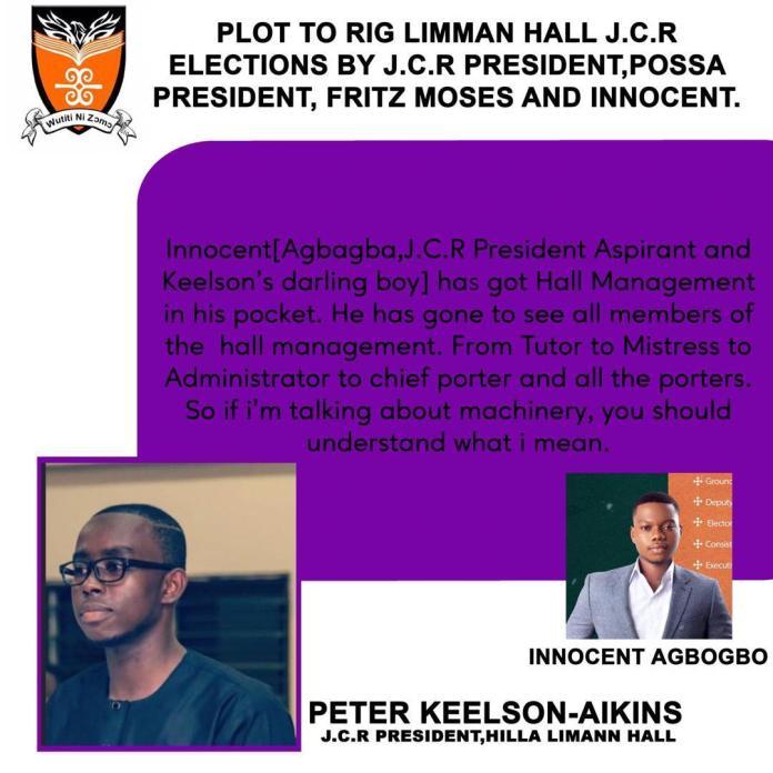 Outgoing Legon JCR President Fingered In Alleged Election Scandal