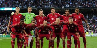Bayern Munich's starting lineup (Shaun Botterill/Getty Images)