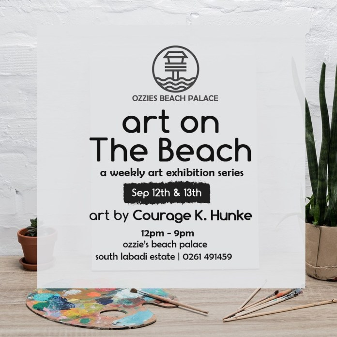 Official flier for the Art On The Beach exhibition