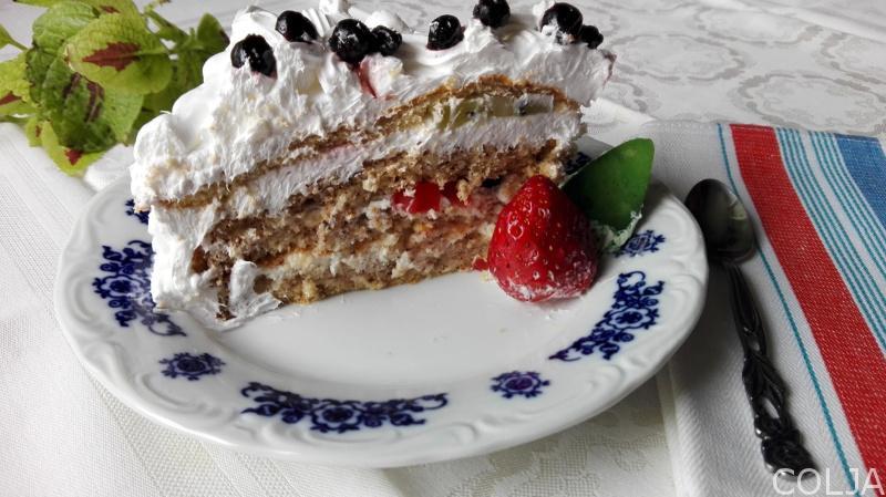 Diplomat torta parče