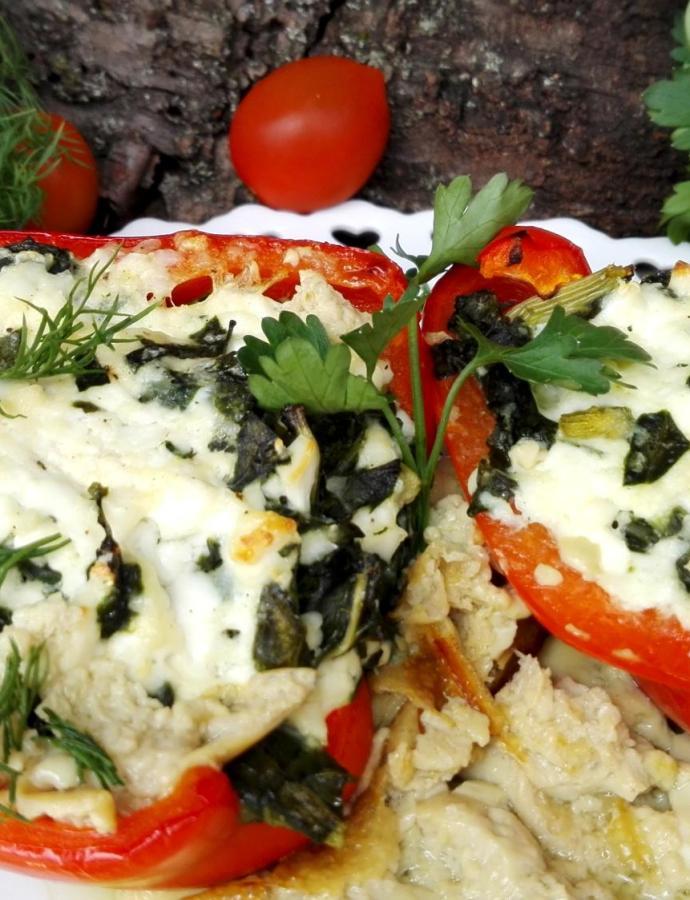 Paprike punjene sirom i zeljem
