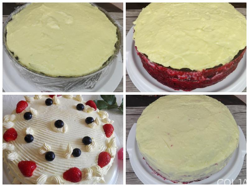 Kolaž filovanje velike torte
