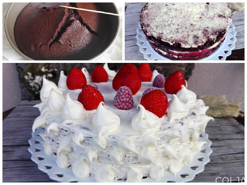 Kolaž male pola velike Bloody Berry torte