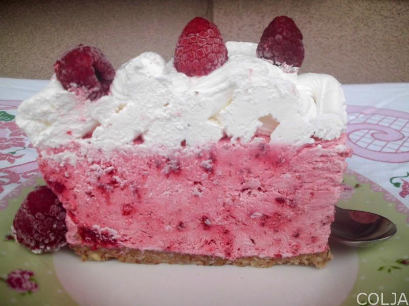 Torta sa malinama- parče