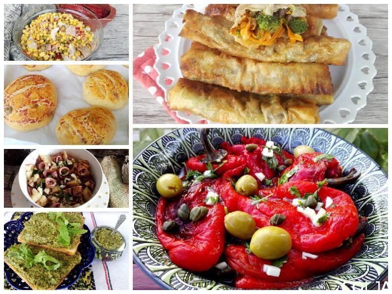 Posna peciva, salate i namazi