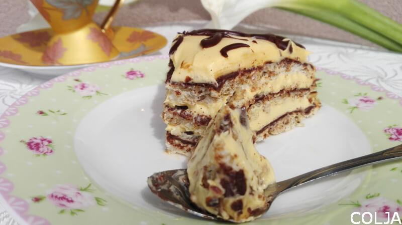 Greta torta sa lešnicima i karamelom