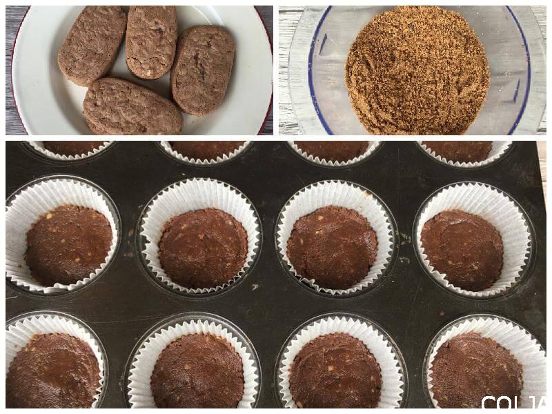 Cheesecake sa čokoladom i jagodama kolaž