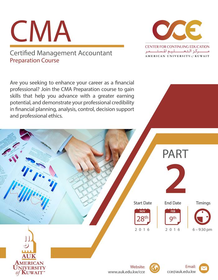 CMA Preparation Course @ AUK