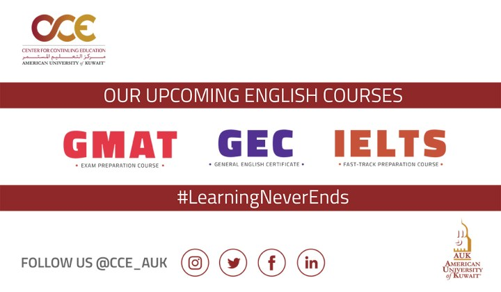 AUK Offers English Courses