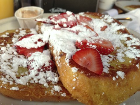 December: Spent a little time in Austin, Texas, eating at food trucks and some great restaurants! (Photo of french toast at Austin Java.)