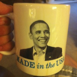 November: Got interested in politics, right before President Obama's reelection. (Picture taken in Sacramento, CA in July, this is my uncle's mug!)