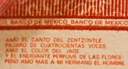 Poema en Billete de $100 Pesos mexicanos por nextick