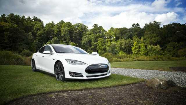 Tesla TSLA Auto Eléctrico Blanco