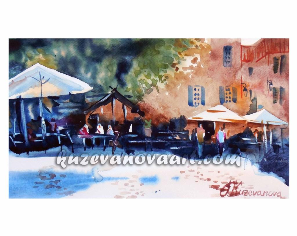 Marseilles umbrellas
